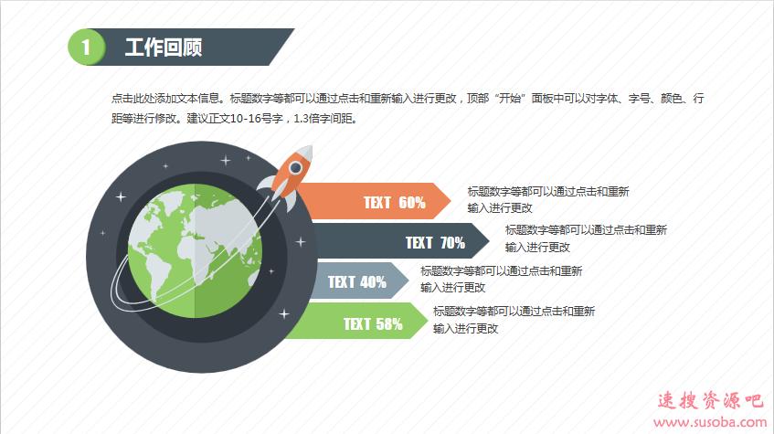【PPT模板】互联网行业年终总结-商务扁平-绿蓝风格