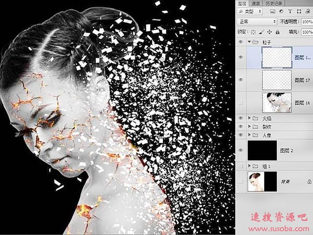 【PS插件】PS粒子化飞溅插件3D Dispersion Photoshop Action下载