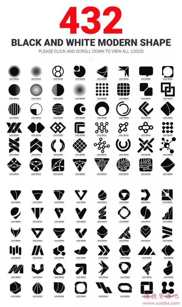 photoshop设计logo:984个时尚现代logo合集PSD格式
