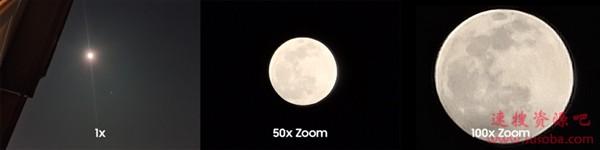 三星官方晒S20 Ultra拍月亮:100倍变焦显奇效