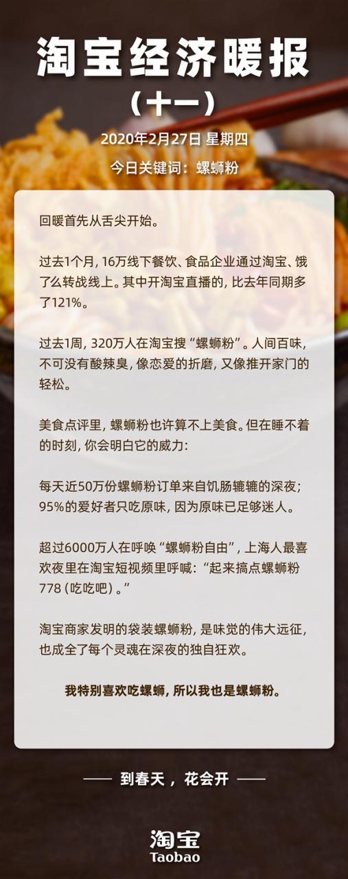 """离不开酸辣臭 1周320万人淘宝搜""""螺蛳粉"""":每天50万份深夜下单"""
