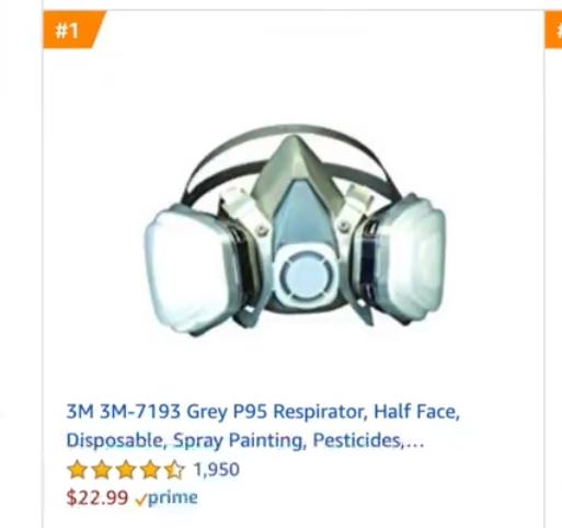 受疫情影响!防毒面具成美国亚马逊汽车用品畅销榜第一名