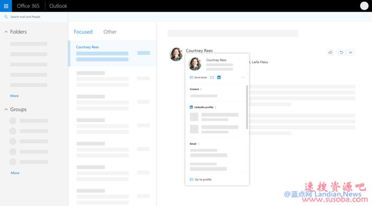 微软即将为企业用户提供Outlook和其他软件提供完全自定义的个人资料卡