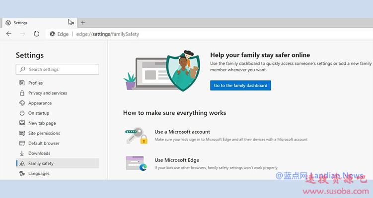 微软为Edge Canary版增加了家庭安全管理选项 主用于管理未成年人上网