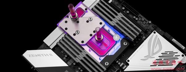 64核撕裂者福音!EK发布ROG Zenith II Extreme主板专用水冷头