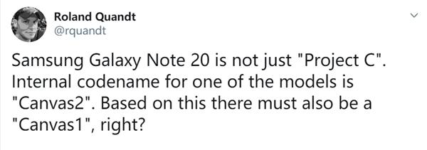 下半年的机皇预定 三星Galaxy Note 20曝光:代号Canvas