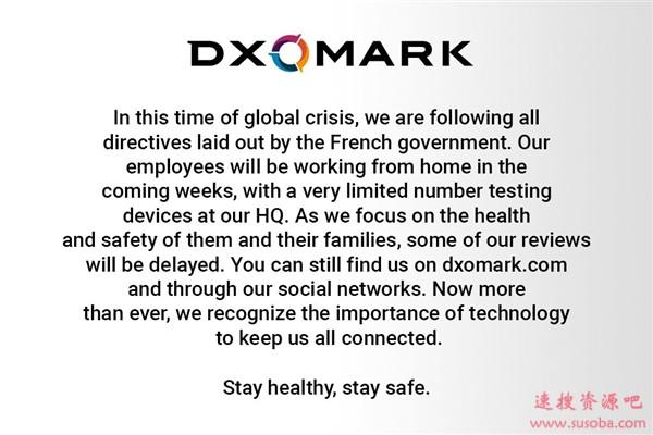 受疫情影响 DxOMark员工在家办公:评测会延迟