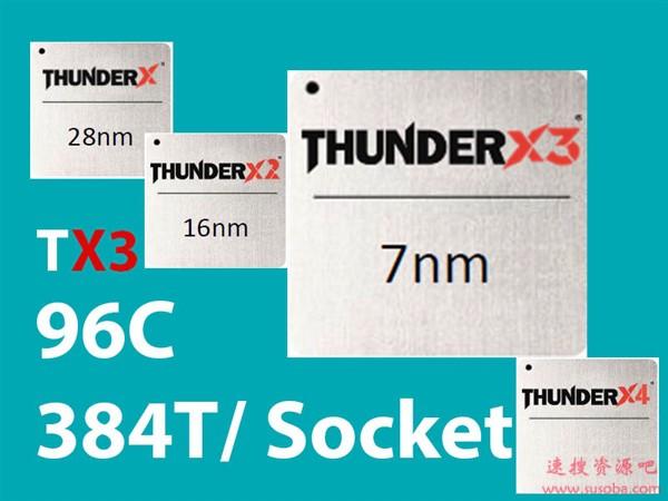 Marvell宣布7nm ThunderX3处理器:ARM架构、96核心384线程