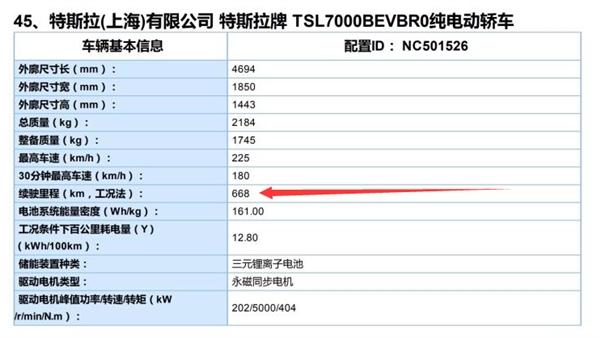官宣!特斯拉国产Model 3长续航后驱版NEDC续航668公里