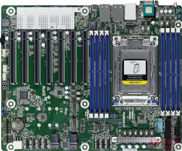 华擎打造AMD霄龙妖板:一字排开七条PCIe 4.0 x16!