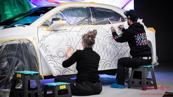 花费上百万!雷克萨斯打造全球首款纹身汽车