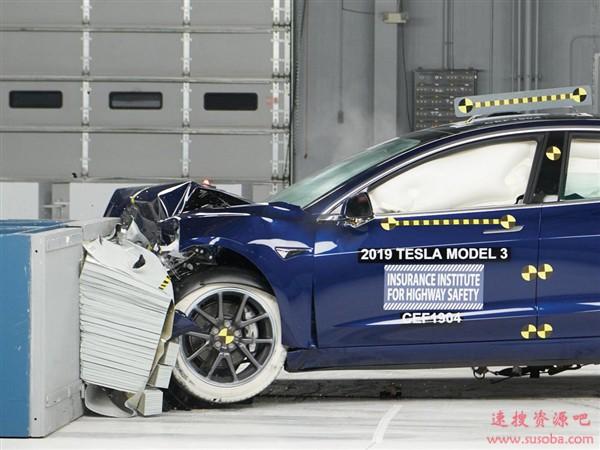 特斯拉Mdoel 3再获IIHS最高安全+奖:唯一一款电动车