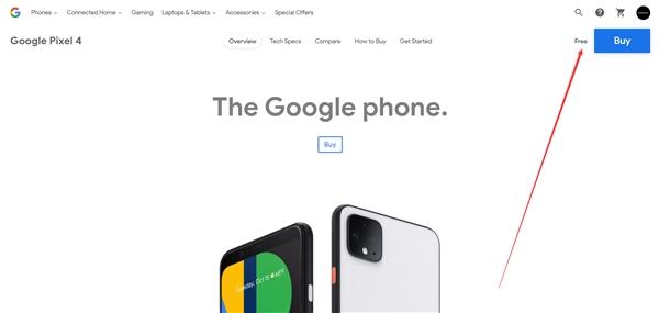 """谷歌在线商店闹乌龙:5600元的Pixel 4显示""""免费"""""""