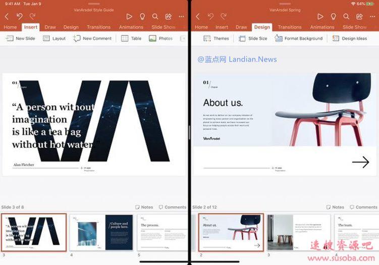 微软Office Insider版现已支持在iPadOS 13上同时打开两个文档或幻灯片