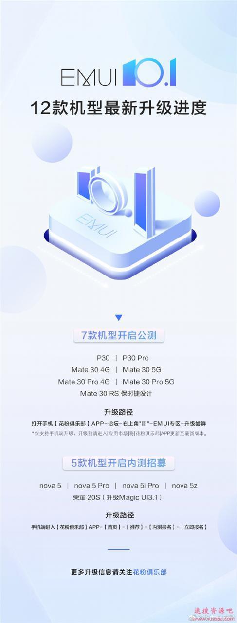 5款机型尝鲜!华为nova 5系列开启EMUI 10.1内测招募