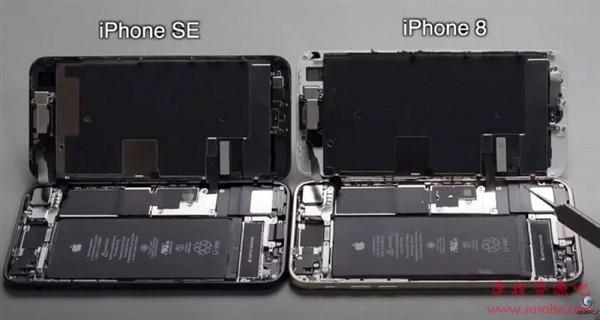 苹果新款iPhone SE首拆:大部分元件和iPhone 8通用!