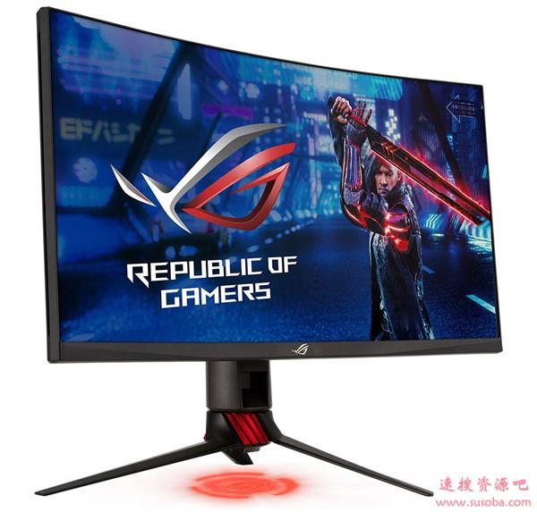 华硕推出27寸2K曲面电竞显示器:165Hz高刷 自带RGB+投影灯
