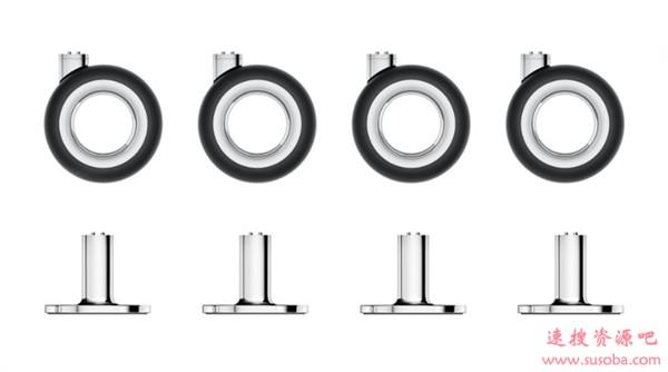 苹果为最贵台式机Mac Pro带来新配件:售价堪比汽车轮胎的机箱滚轮