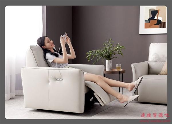 小米有品众筹样子生活电动沙发:进口乳胶、静音电机