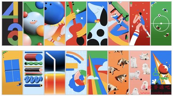 谷歌Pixel 4a 16张新壁纸曝光:挖孔屏绝配 附下载