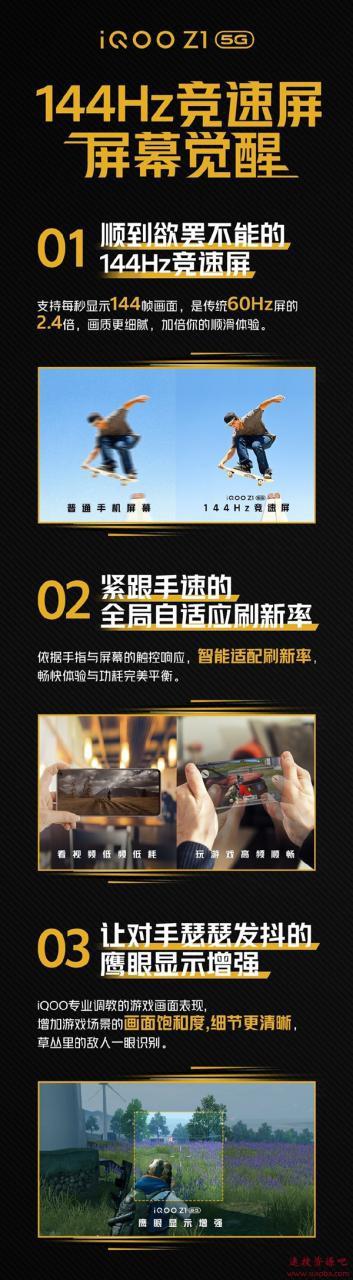 首款双5G手机iQOO Z1来了:采用144Hz竞速屏 一图看懂
