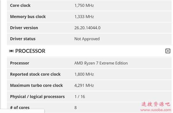 AMD锐龙7至尊版首次现身:15W 8核心APU、最高加速4.3GHz