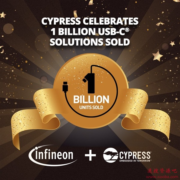 USB之王赛普拉斯新成就:USB-C设备出货量突破10亿