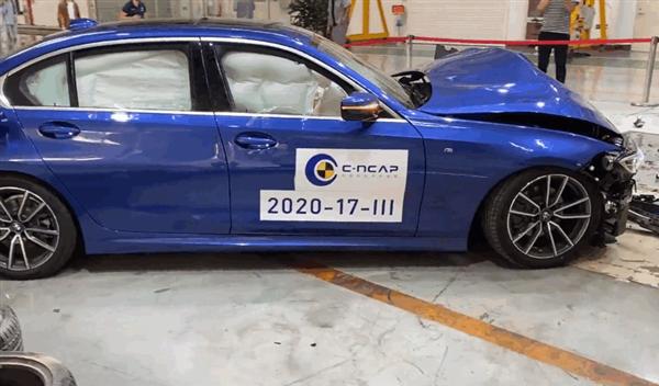 【速搜资讯】宝马3系C-NCAP偏置碰撞视频曝光 A柱纹丝不动