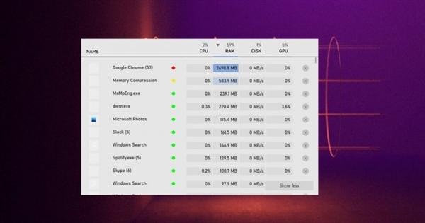 Windows 10新任务管理器上线:专为玩家优化、释放设备性能