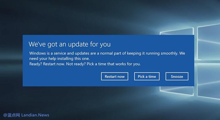 【速搜资讯】微软解决Windows 10出现的随机重启问题 但用户可能必须重装系统才行