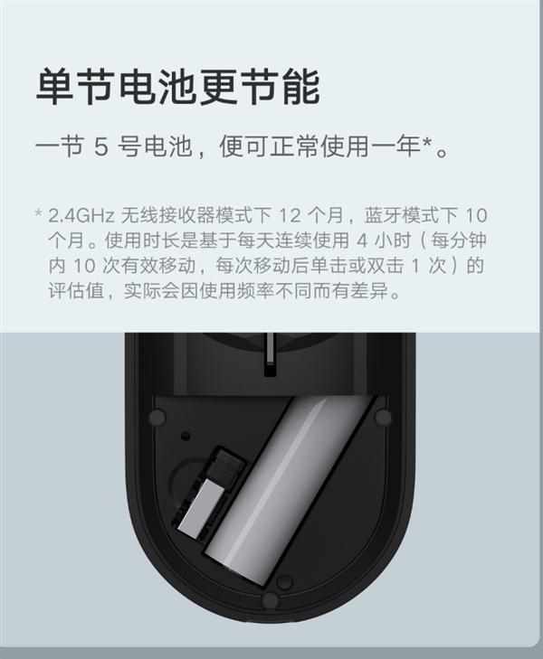 【速搜资讯】99元!小米便携鼠标2开售:4挡DPI调节 一年超长续航