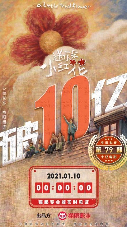 【速搜资讯】2021年首部票房10亿电影诞生 中国史上第79部
