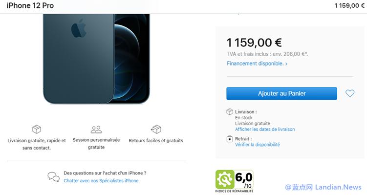 【速搜资讯】为遵守法国最新的可维修性法规要求 苹果已标注iPhone及Mac的可维修得分
