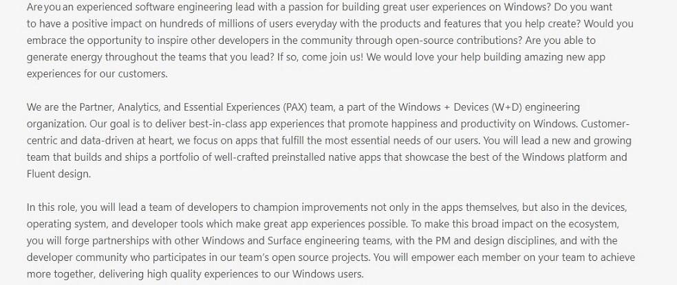 【速搜资讯】微软苏州园区招募新工程师致力于改进Windows 10系统预装应用体验