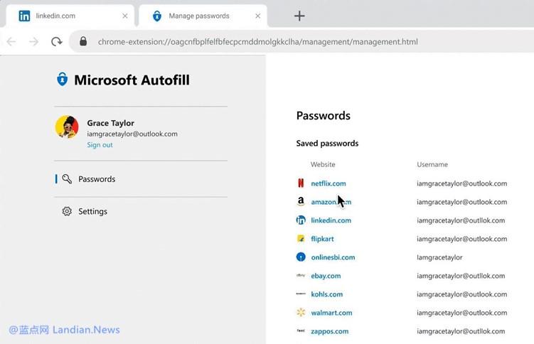 【速搜资讯】微软宣布正式推出跨平台跨设备的密码自动填充解决方案(即密码管理器)