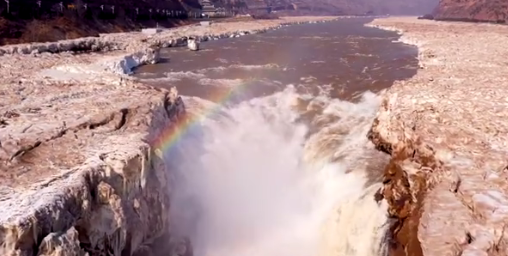 【速搜资讯】黄河壶口瀑布冰河解封:出现彩虹 场面蔚为壮观