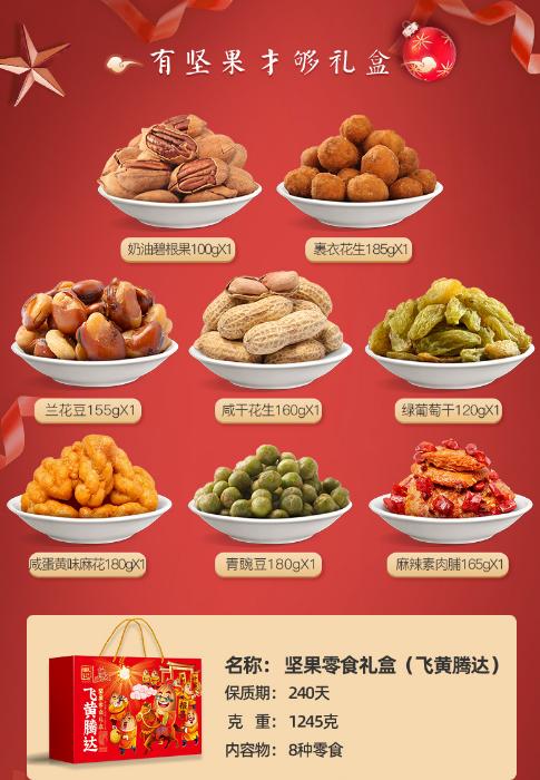 【速搜资讯】8袋仅29元!好巴食飞黄腾达坚果零食大礼包:送礼佳选
