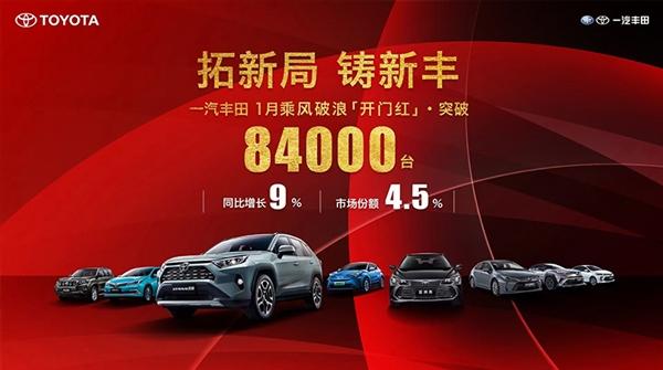 【速搜资讯】正式进入三缸时代!一汽丰田1月销量出炉 同比大涨9%