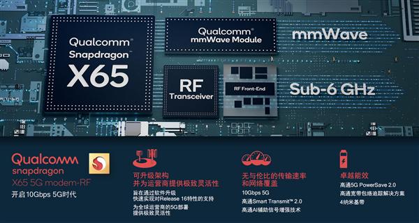 【速搜资讯】网速再快10倍 高通骁龙X65立功了:双频段5G合体冲刺10Gbps