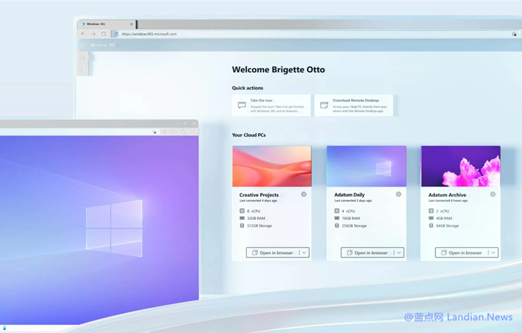 【速搜资讯】微软正式推出Microsoft Windows 365 Cloud PC 24美元起仅供企业使用
